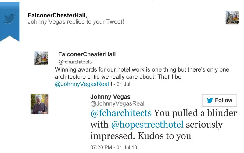 Johnny Vegas Falconer Chester Hall